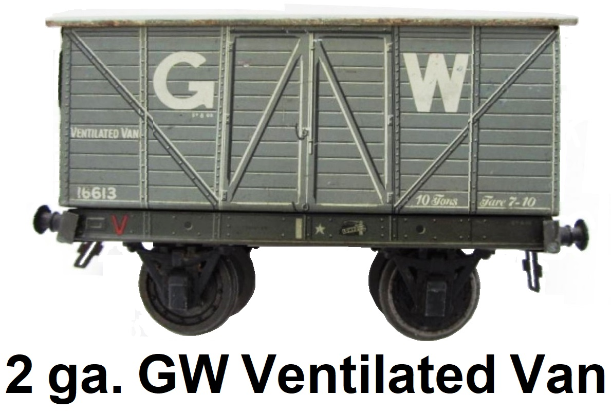 Carette 2 gauge Great Western Ventilated Van