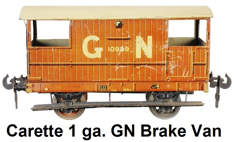 Carette 1 gauge Great Northern Brake Van