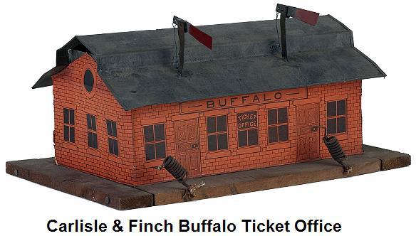 Carlisle & Finch #9 Lithographed Paper Label Buffalo Ticket Office first made 1897