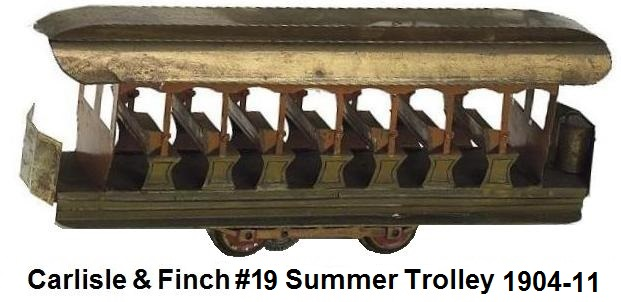 Carlisle & Finch early brass #100 Summer trolley in 2 inch gauge with reversible seats
