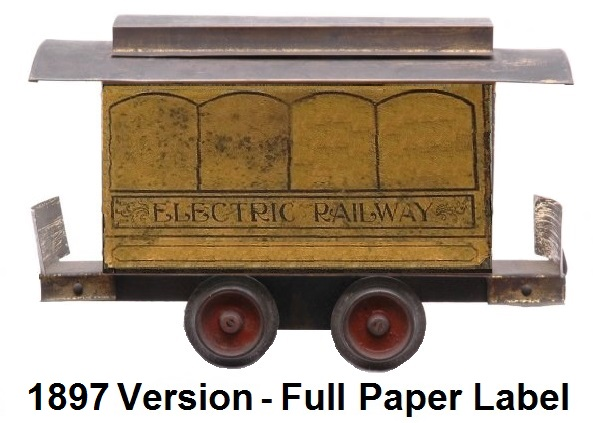 Carlisle & Finch #1 four window trolley in 2 inch gauge - 1st generation 1897