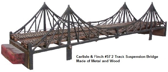 Carlisle & Finch #57 36 inch long Suspension bridge
