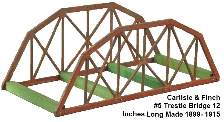 Carlisle & Finch #5 12 inch long Testle bridge made 1899-1915