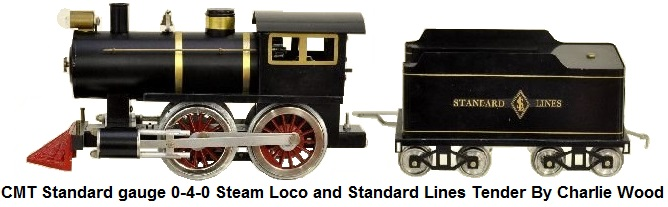 Classic Model Trains Standard gauge by Charlie Wood 0-4-0 steam loco with Standard Lines tender