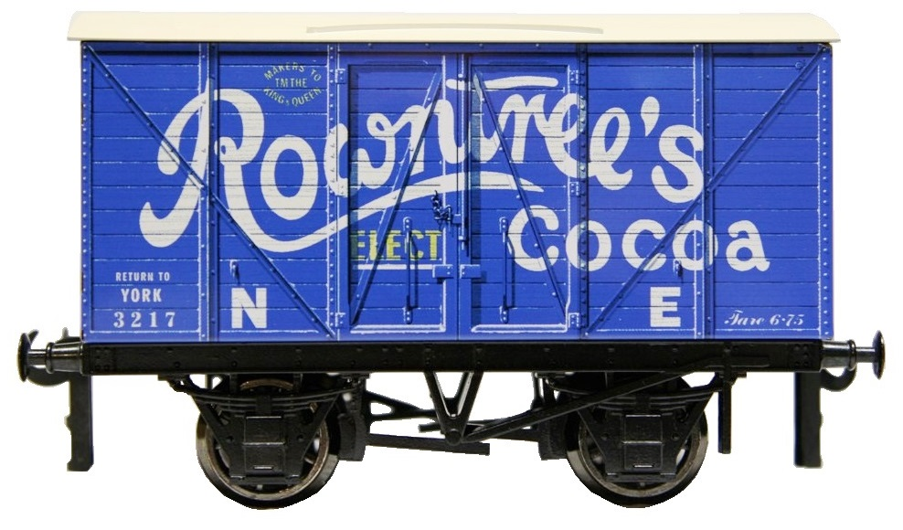 Darstaed O gauge Rowntrees Cocoa 4 wheel Tinplate Advan
