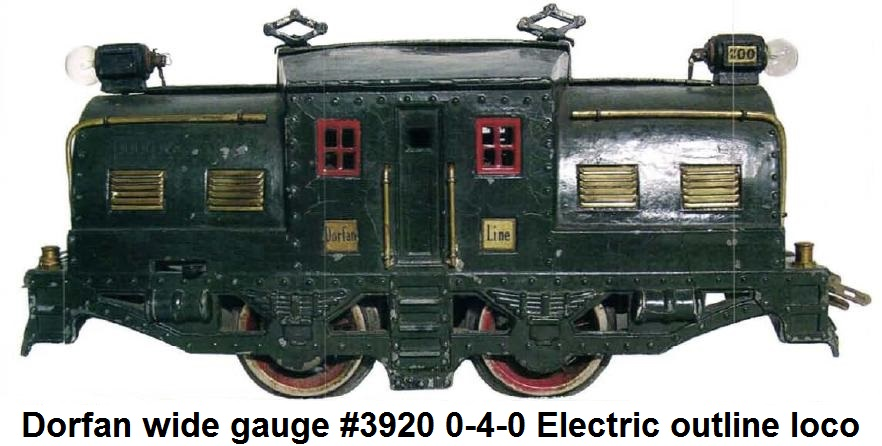 Dorfan Standard gauge cast #3920 Whaleback Electric Outline locomotive with Loco-Bilder motor