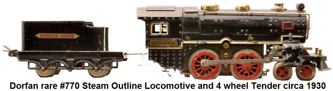 Dorfan scarce #770 Steam loco and Tender circa 1930