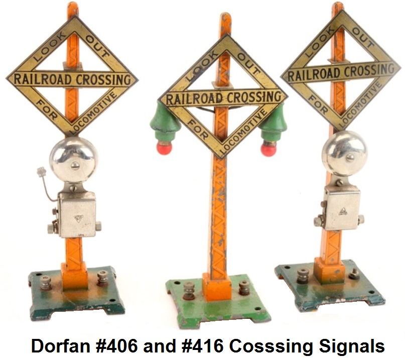 Dorfan #406 and #416 Railroad Crossing Signals