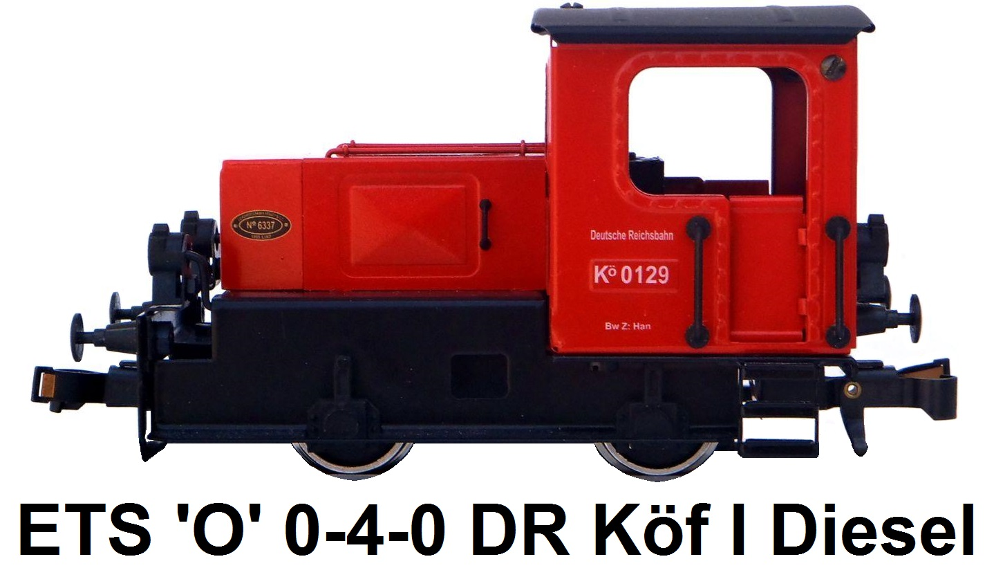 ETS 'O' gauge Diesel Switcher DR Series Köf 1