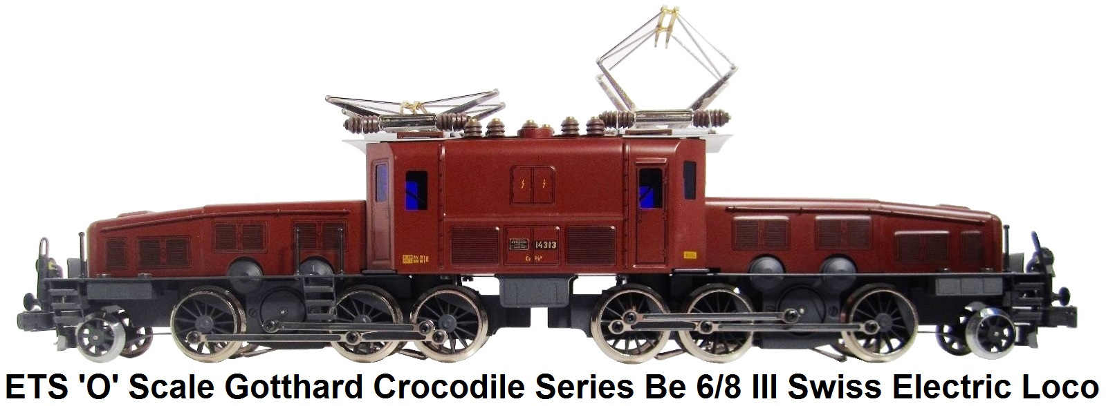 ETS 'O' gauge Gotthard Crocodile Series Be 6/8 III 207 Swiss Electric Loco