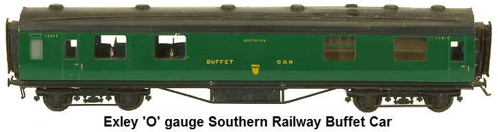 Exley Southern Railway 'O' gauge Buffet Car