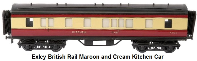 Exley British Rail 'O' gauge maroon and cream Kitchen Car
