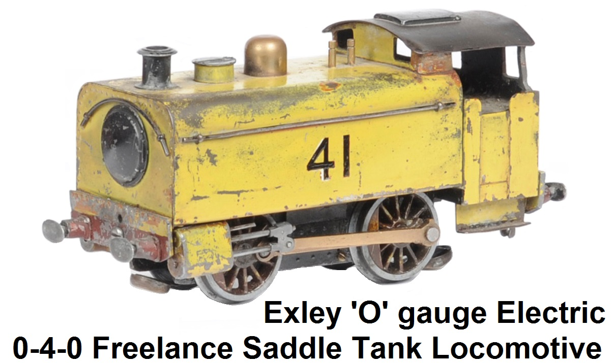 Exley 'O' Gauge Electric 0-4-0 Freelance Tank Locomotive #41