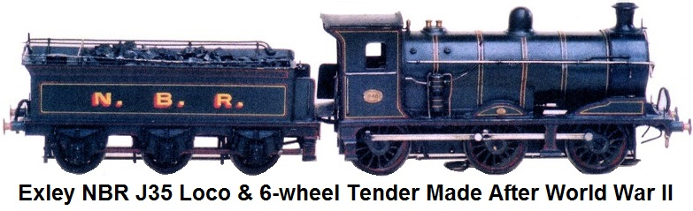 Exley North British Rail J35 locomotive and 6-wheel tender