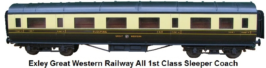 Exley Great Western Railway All First Class Sleeper Car