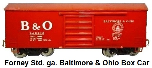 Forney Standard gauge Baltimore & Ohio box car