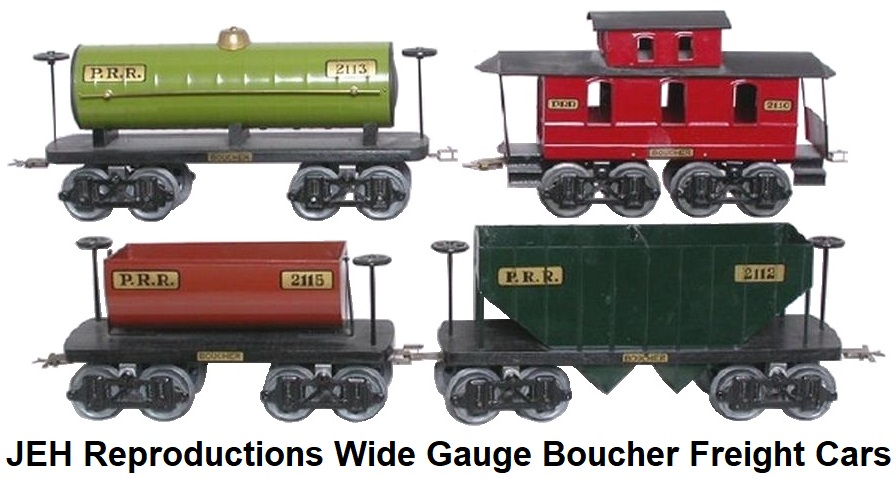 JEH Reproductions Wide Gauge Boucher Freight Cars