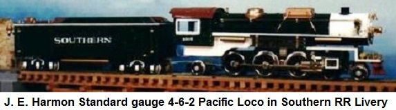 J. E. Harmon Standard gauge 4-6-2 Pacific in Southern livery