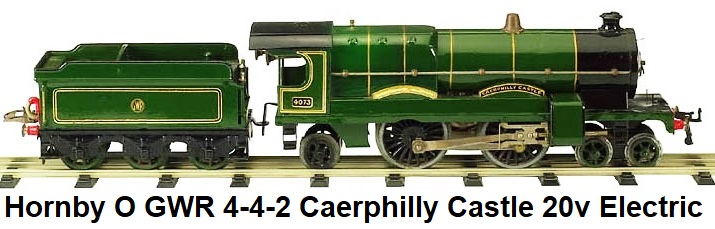 Hornby 4-4-2 Carephilly Castle electric in 'O' gauge