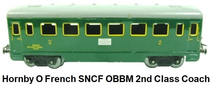 Hornby 'O' gauge French SNCF OBBM 2nd Passenger coach