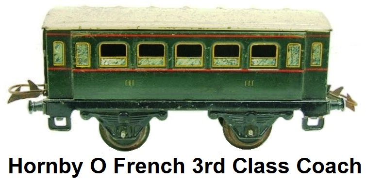 Hornby 'O' gauge French All 3rd Passenger Coach