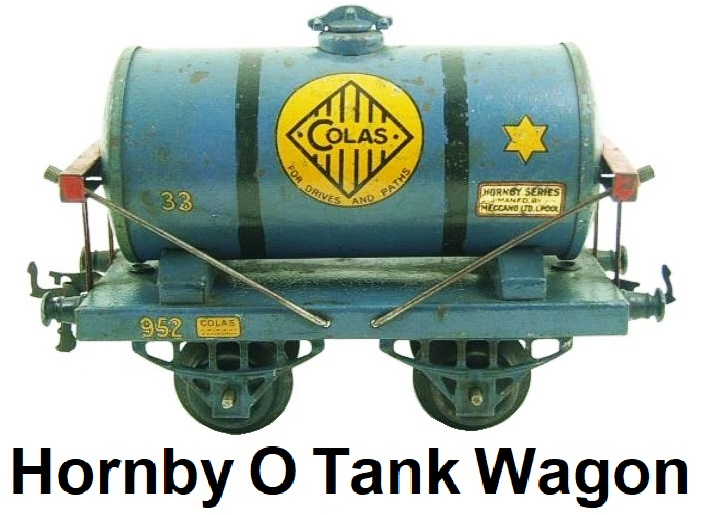 Hornby 'O' gauge Early Edition Bitumen Colas Blue 33 Tank Wagon 952