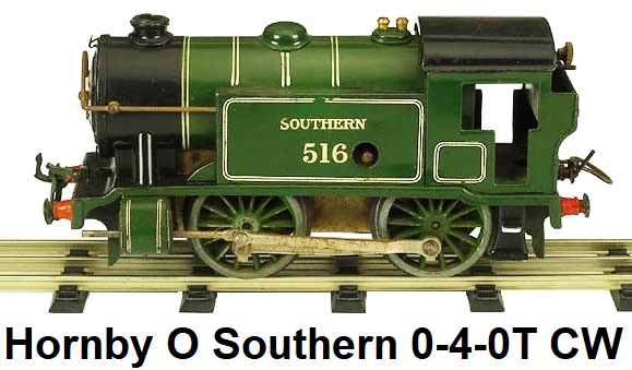 Hornby O gauge #1 Special 0-4-0 Tank Loco Southern Green #516, clockwork