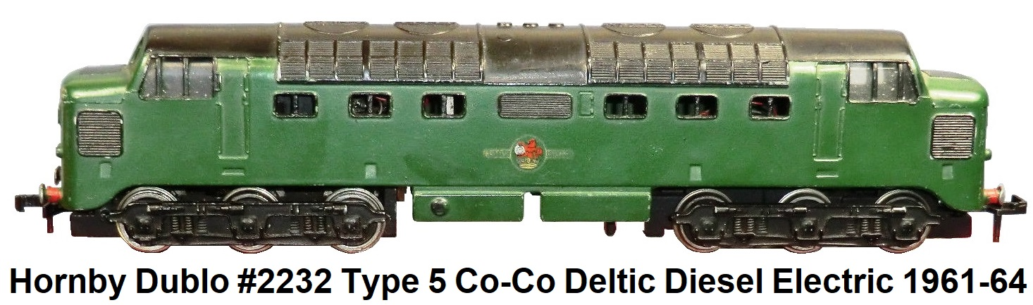 Hornby Dublo #2232 Type 5 Co-Co Deltic Diesel Electric Loco 1961-64