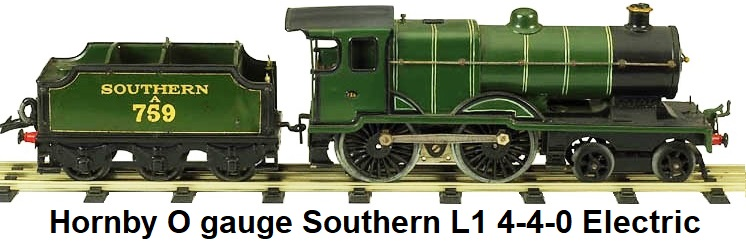 Hornby Southern L1 electric engine in '0' gauge