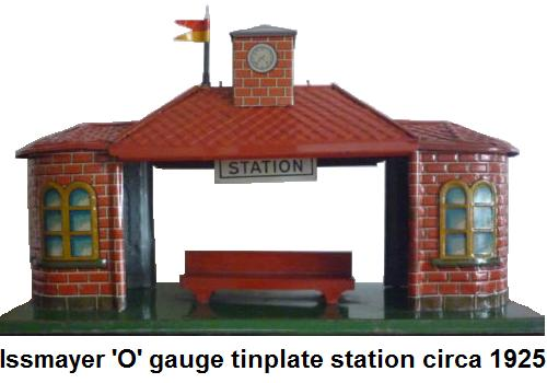 Issmayer '0' gauge tinplate station circa 1925