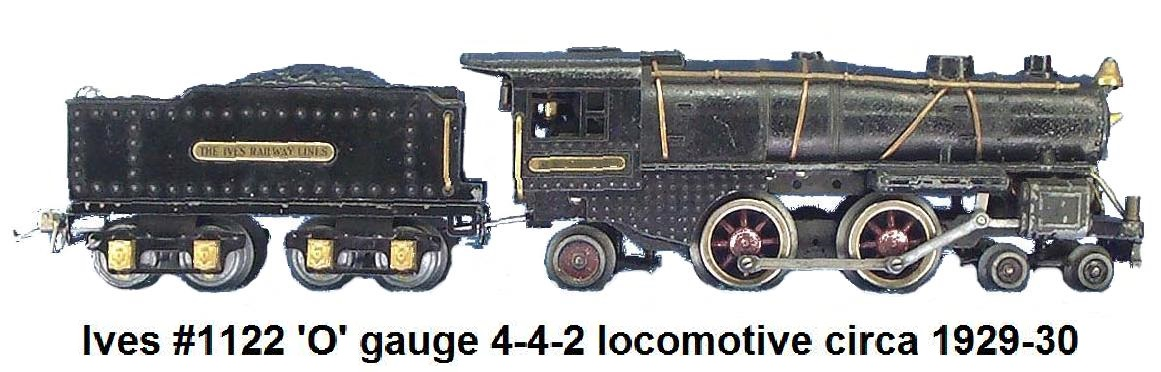 Ives #1122 4-4-2 circa 1929 in 'O' gauge