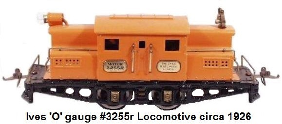 Ives #3255r electic outline locomotive in 'O' gauge circa 1926