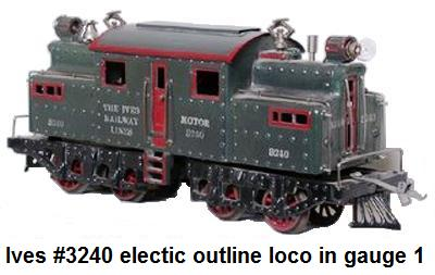 Ives #3240 electric in gauge 1 Circa 1916-1920