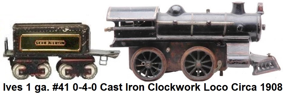 Ives #41 Clockwork 0-4-0 Steam Outline Loco in #1 gauge circa 1908
