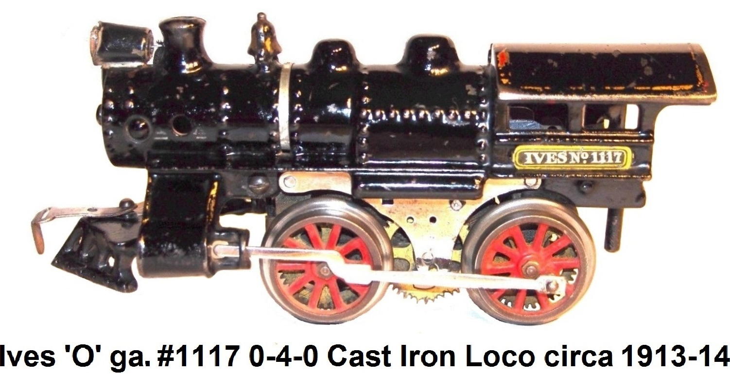 Ives #1117 Steam loco in Cast Iron Circa 1913-14
