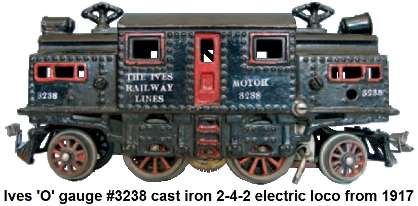 Ives 'O' gauge #3238 cast iron 2-4-2 loco from 1917