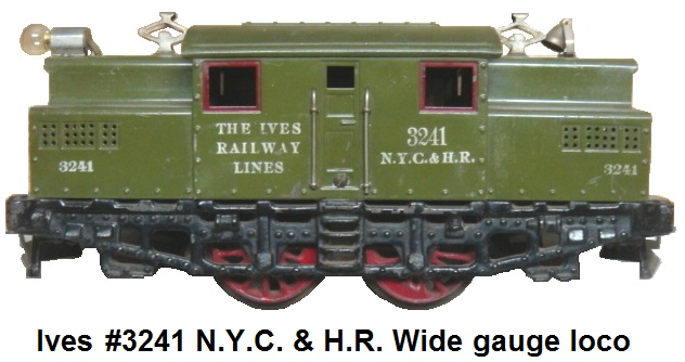 Ives #3241 Wide gauge 0-4-0 electric outline loco circa 1922-1924