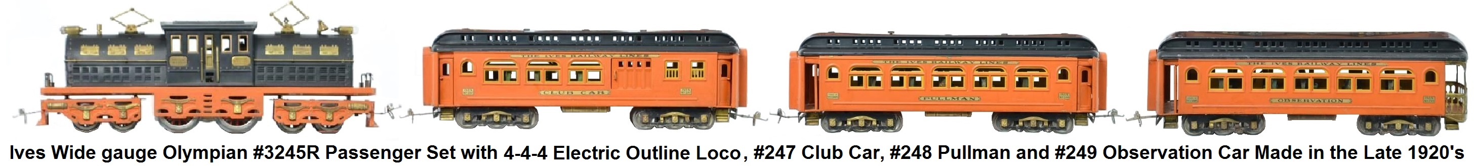 Ives Trains American Flyer Locomotive Wiring Diagrams Wide Gauge Olympian 3245r Passenger Set With 4 Electric Outline