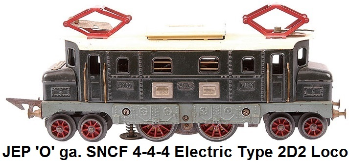 JEP 'O' gauge 4-4-4 Electric Type 2D2 Loco Green And Cream SNCF Lithography
