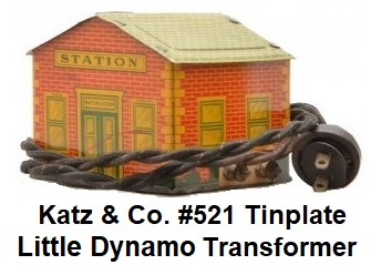 Henry Katz & Co. Tinplate Lithographed #521 Little Dynamo Transformer
