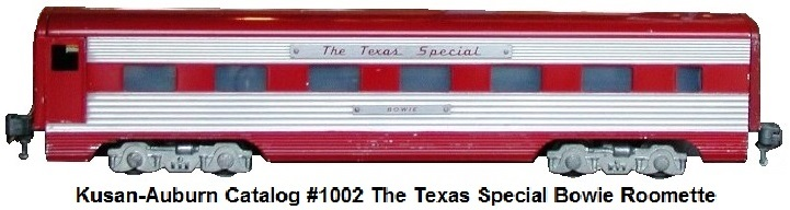 Kusan-Auburn catalog #1002 The Texas Special Bowie roomette