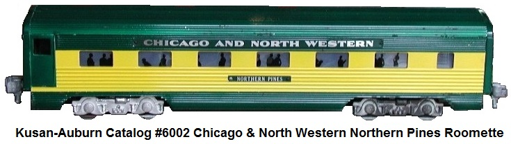 Kusan-Auburn catalog #6002 Chicago & North Western Northern Pines Roomette