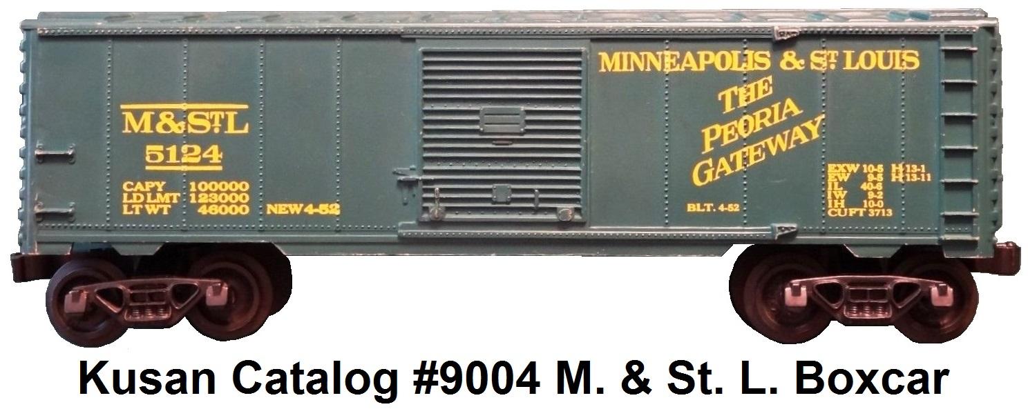 Kusan Trains Ho Model Train Wiring Diagrams On Dc Railroad O Gauge 5124 Minneapolis St Louis Box Car Blt
