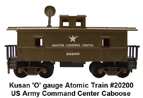 Kusan Atomic Train #20200 US Army Command Center Caboose in 'O' gauge
