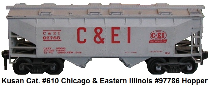 Kusan catalog #610 Chicago and Eastern Illinois #97786 covered hopper
