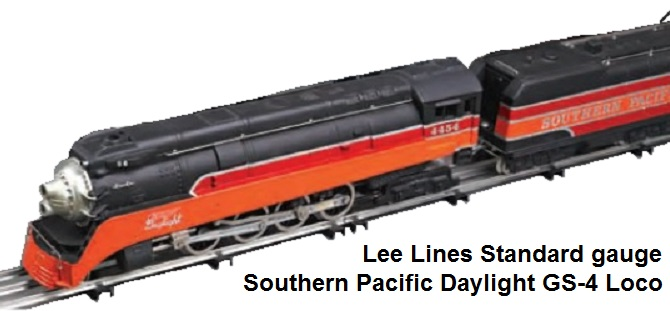 Lee Lines Standard gauge 4-8-4 SP Daylight GS-4 Locomotive & Tender