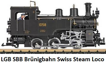 LGB SBB Br�nigbahn Swiss Steam Locomotive HG 3-3