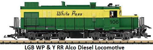 LGB White Pass & Yukon RR Alco Diesel Locomotive