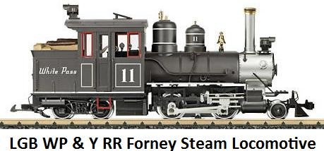 LGB White Pass & Yukon RR Forney Steam Locomotive