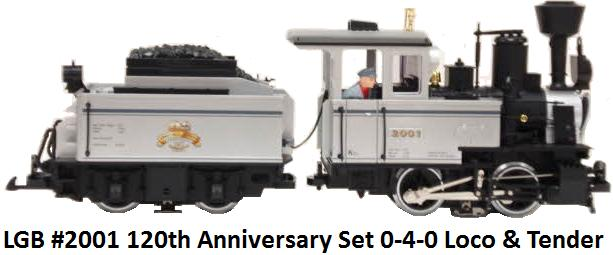 LGB 120th Anniversary Set Locomotive circa 2001